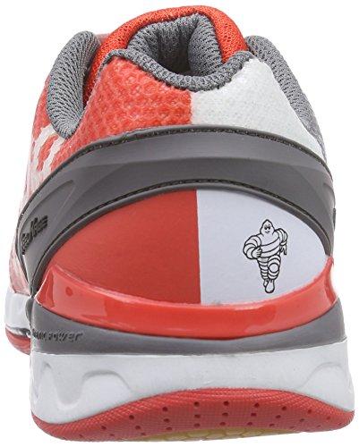 Kempa STATEMENT ATTACK PRO Unisex-Erwachsene Handballschuhe Mehrfarbig (fire red/grau/weiß)