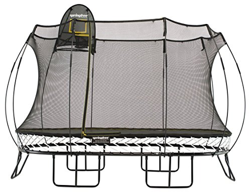 Cheap Springfree Trampoline – 8x13ft Large Oval Trampoline With Basketball Hoop and Ladder