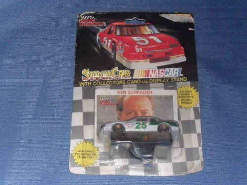 1991 NASCAR Racing Champions . . . Ken Schrader #25 1/64 Diecast . . . Includes Collectors Card and Display Stand