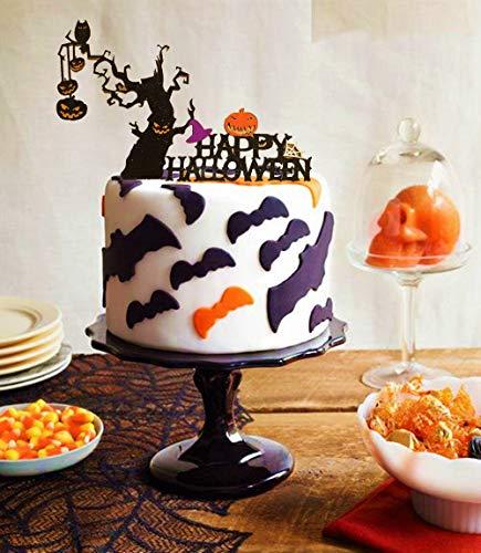 Set of 2 JeVenis Halloween Cake Decoration Halloween Cake Toppers for Halloween Party Decorations Supplies]()