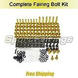 Fairing Bolt Kit CNC Screws For Suzuki GSXR1000 GSX-R1000 K9 Year 2009 2010 2011 2012 2013 2014 2015 2016 Fasteners Hardware Speed Nut Sportbike (Gold)