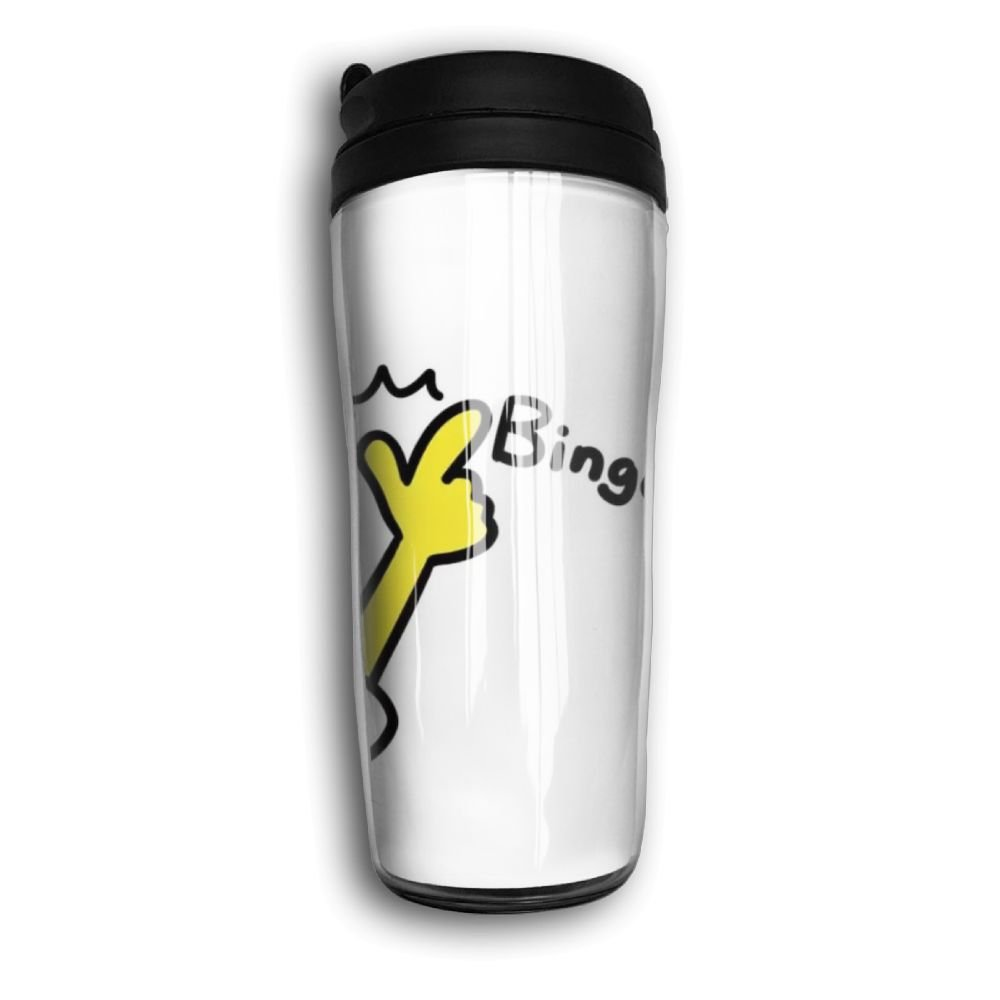 Lojaon Coffee Cup Curve Travel Mug Office Insulated Tumbler Cruisers Bingo Finger Sign Cup,Keep Hot,Carry Hand Cup
