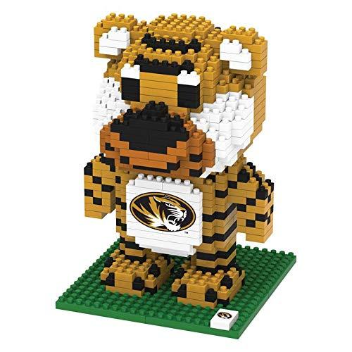 FOCO NCAA Missouri Tigers 3D Brxlz Mascot Building Blocks SET3D Brxlz Mascot Building Blocks Set, Team Color, One Size