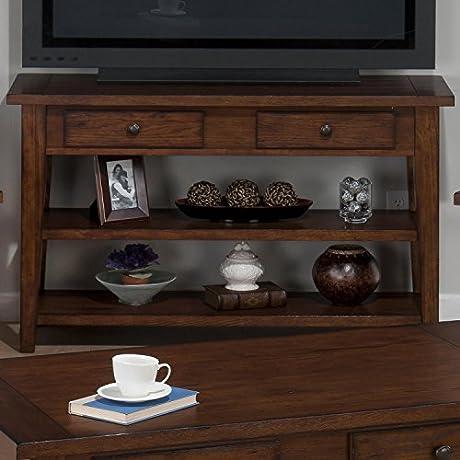 Clay County Sofa Media Table Oak