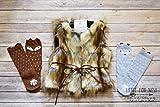 Fur Vest, Toddler Vest, Faux Fur Vest, Brown Fur Vest, Baby Girl Vest