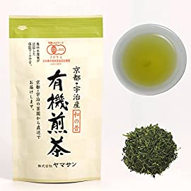 Green Tea leaves Sencha, JAS Certified Organic,Japanese Uji-Kyoto, 80g Bag 【CHAGANJU】… 8 ✅Naturally grown Japanese organic green tea with 100% Japanese organic JAS certification. ✅We purchase genuine Japanese green tea leaves sencha directly from contract farmers. I want you to drink every day so I will provide better quality at an affordable price ✅Experienced tea appraisers who have won numerous awards in the tea contest select and blend tea.