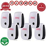 Ultrasonic Pest Repeller Plug in New 2019 Pest Repellent, Power Saving, Home Indoor and Outdoor Use, Pest Reject 6Pack Rat Repellent, Mice Repellent, Mosquitos, Roachs, Spiders, Bed Bugs, Fleas