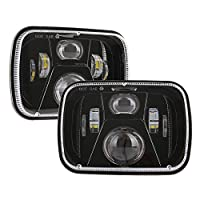 BICYACO DOT 110W 5x7 Led Headlights 7x6 Hi/Low Led Sealed Beam Headlamp for Jeep Wrangler YJ Cherokee XJ Chevy S10 H4 Plug H6054 Headlights H5054 6054 6052 Toyota Pickup?1 Pair?