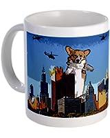 CafePress Corgi-zilla 11oz White Ceramic Mug