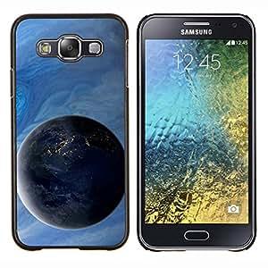 TECHCASE---Cubierta de la caja de protección para la piel dura ** Samsung Galaxy E5 E500 ** --Espacio Planet Galaxy Estrellas 4