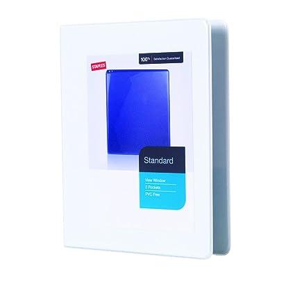 amazon com staples standard mini 5 inch 3 ring view binder white