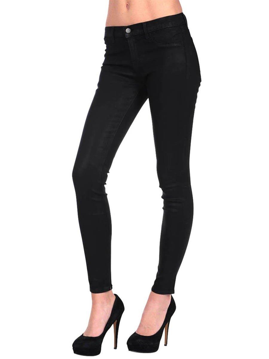 J Brand Womens Super Skinny Coated Jean - Coat Steal - 29