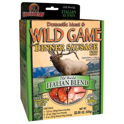 Hi-Country Snack Foods Domestic Meat and Wild Game 22.06 oz. Old World Italian Blend Home Made Dinner Style Sausage Spice Kit-No MSG ()