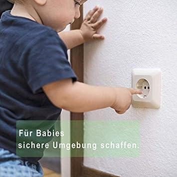 Steckbar Steckdosensicherung f/ür Baby Kleinkinder 20 St/ück Norjews 20x Kindersicherung f/ür Steckdose