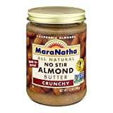 MaraNatha All Natural Crunchy Almond Butter, No Stir, 12 oz (Pack of 1)