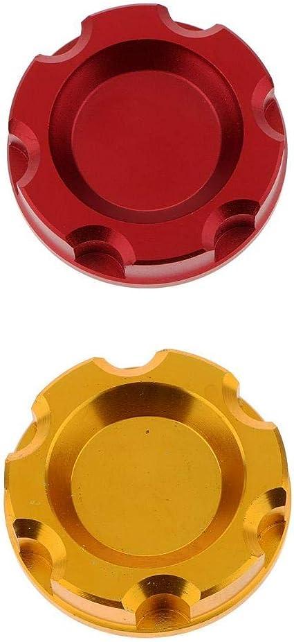 Tapa Del Tanque De Combustible Del Tapón Del Aceite Del Tapón Del Combustible 2x Tapa Para Quad ATV Dirtbike Pitbike, Φ 52mm, Gold + Red: Amazon.es: Coche y moto