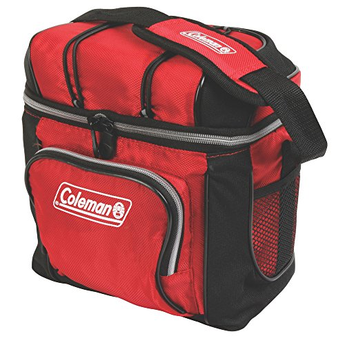 Coleman 3000001307 Cooler Soft 9 Can Red W/ Liner