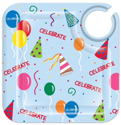 Celebrate 8-1/2-Inch Square Appetizer Plates, Set of 4 ()
