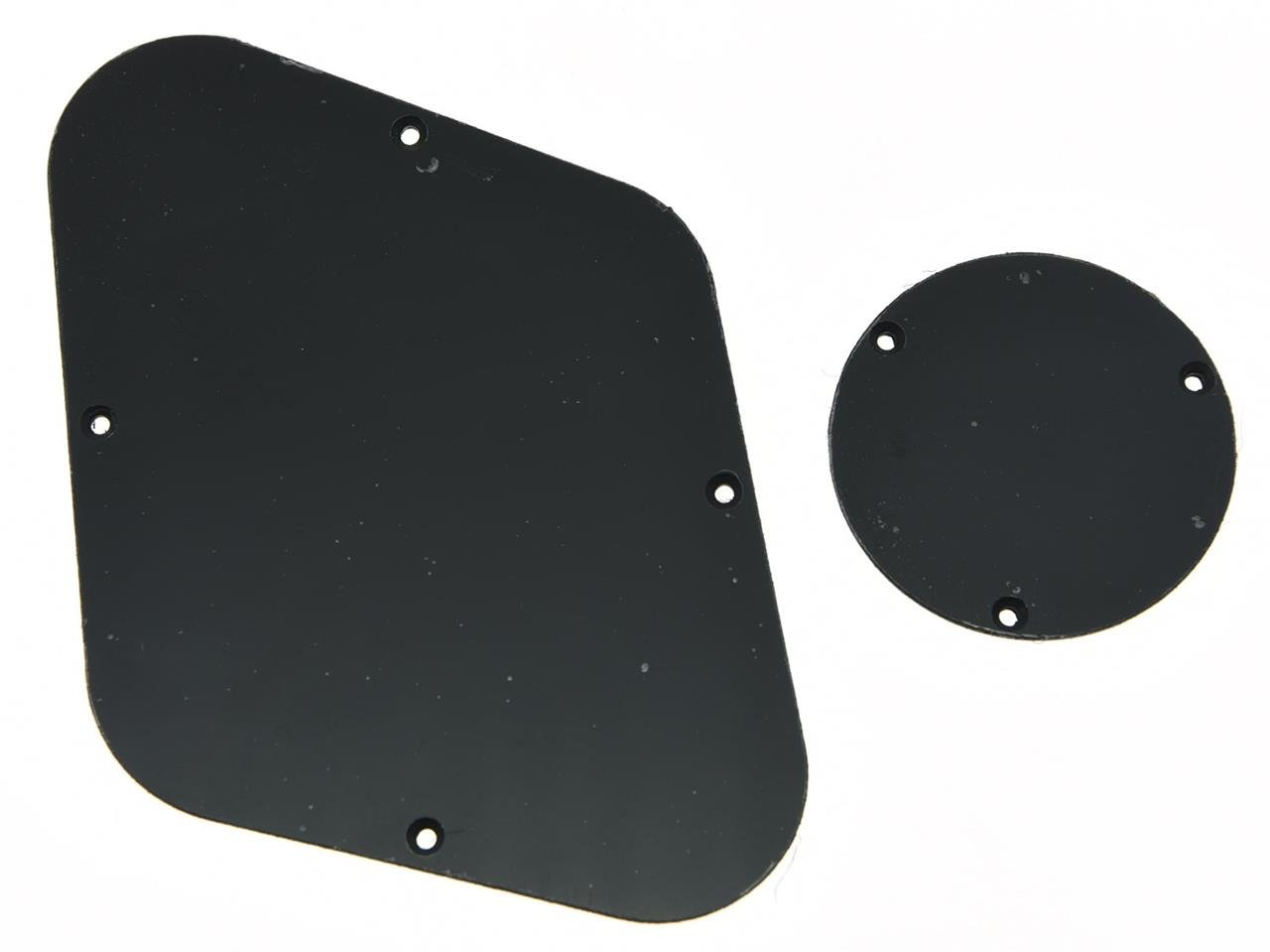 KAISH Solid Black 1 Ply LP Rear Control Plate Switch Plate Cavity Cover For Epiphone Les Paul Kaish Music K894