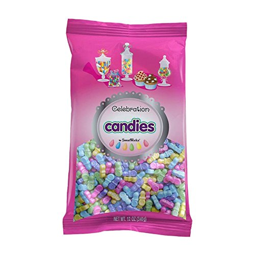 Pacifier Candy Favors (Sweetworks Celebrations Candy Sweet Shapes Bag, 12 oz, Shimmer Pastel Mix)