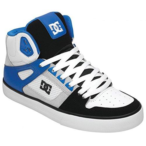 880ed6cd90807 Amazon.com: DC Spartan High WC Shoes - White/Black/Blue - UK 8 / US ...