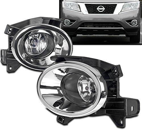 - ZMAUTOPARTS Bumper Driving Fog Lights Lamp Chrome W/Bulb+Wiring Harness For 15 Pathfinder