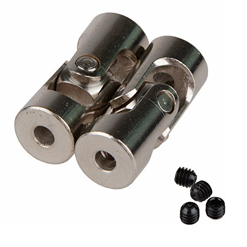 Shaluoman 2pcs 3mm to 3mm Motor Shaft Coupling Universal Joint Connector for RC Boat Car