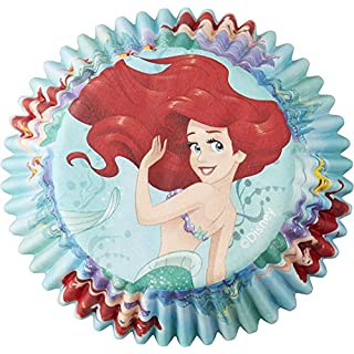 Wilton Disney Princess Little Mermaid Ariel 50 Count Cupcake Liners, Assorted