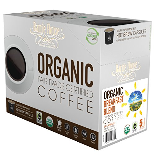 Barrie House Fair Trade Organic Breakfast Blend Single Serve Capsules (24 ()