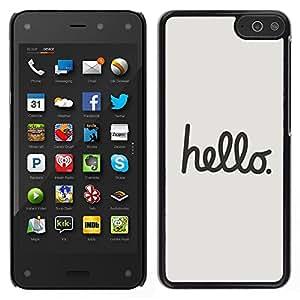 LECELL--Funda protectora / Cubierta / Piel For Amazon Fire Phone -- Citar Texto minimalista gris Caligrafía --