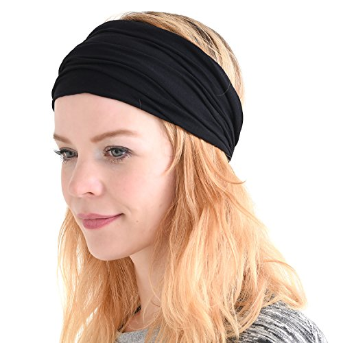 Casualbox mens Head cover Band Bandana Stretch Hair Style Japanese Black 5fce0a67e64