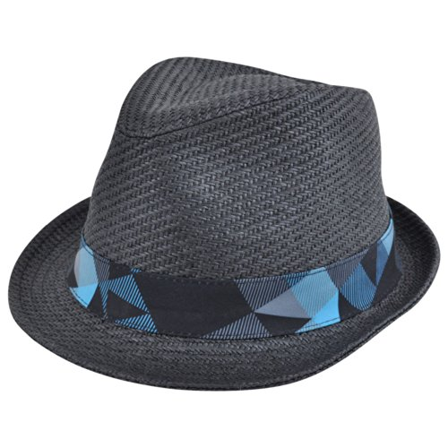 [Explicit Woven Paper Straw Large X-Large Fedora Gangster Pimp Hat Diamond Top] (Pimp Hat With Feather)