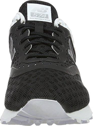 New Balance de hombre ML574acrílico unidades Classic Zapatillas Negro/Blanco