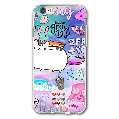 iPhone 7 Plus Case Cute Fat Unicorn.jpg Slim Fit Shell Hard Plastic Full Protective Anti-Scratch Resistant Cover Case for iPhone 7 Plus 5.5 Inch -