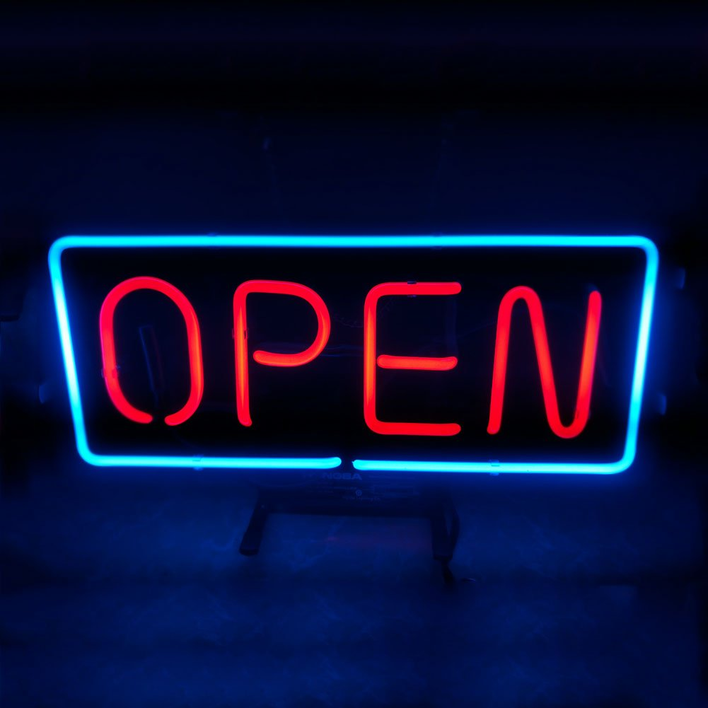 Mugua NEW OPEN Beer Neon Sign 14'' x 9'' for Home Bedroom Pub Hotel Beach Recreational Game Room Decor Garage Wall Sign