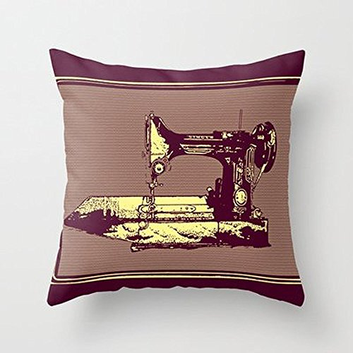 Busy Deals New Vintage Singer Sewing Machine Pillowcase Home Decoration pillowcase covers