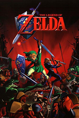 nd of Zelda Battle Link and Sheik Video Gaming Poster 24x36 inch ()