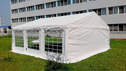 OTLIVE 20×20 Foot Wedding Party White Gazebo Event Tent Storage Shed Car Shelter Heavy Duty Pavilion (White)