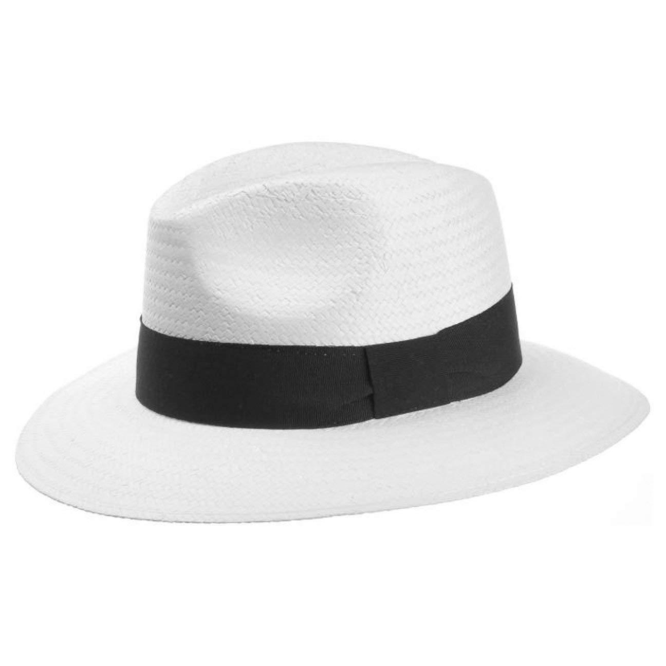 Lipodo Cappello White Night Traveller Cappelli da Uomo di Paglia Musicista