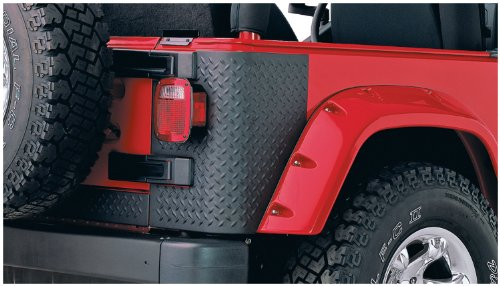 Bushwacker 14001 Jeep Trail Armor Rear Corner Pair for Pocket Style -