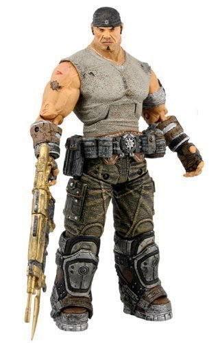 (Gears of War 3 Series 3 Journey's End Marcus with Gold Retro Lancer 7 Inch Action Figure by NECA TOY by NECA )
