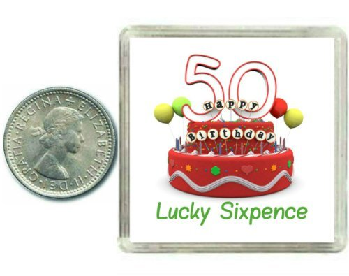 50th Birthday Lucky Silver Sixpence Gift in Presentation Keepsake Box A great good luck present idea for man or woman. BabyCentre