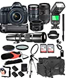 Canon EOS 5D Mark IV with 24-105mm f/4 L is II USM + 50mm 1.8 STM + Tamron 70-300mm + 500mm Telephoto + 128GB Memory + Pro Battery Bundle + TTL SpeedLight + Pro Filters,(26pc Bundle) For Sale