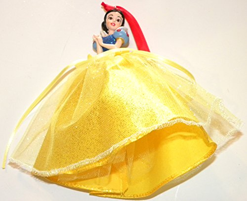 Disneyland Disney World WDW Parks Set All 8 2014 Princess Doll Evening Tuile Gown Dress Ariel Belle Jasmine Snow White Aurora Rapunzel Tiana Cinderella Holiday Ornaments Figurines by Disney (Image #3)