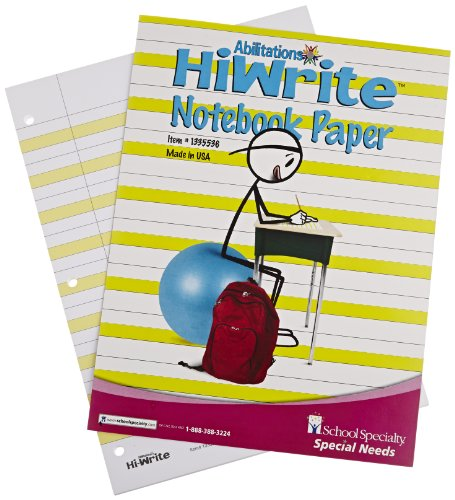 Abilitations Hi-Write Wide Ruled Notebook Paper, 100 Pages/50 Sheets