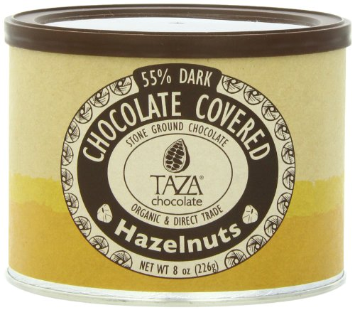 Taza Chocolate Chocolate Covered Hazelnuts, 8 Ounce