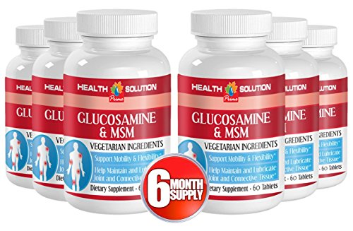 Msm with glucosamine sulfate - GLUCOSAMINE AND MSM - supports joint function (6 bottles) by Health Solution Prime