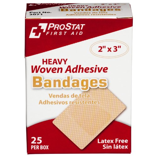 ProStat First Aid 2071 Bandage Heavy Woven Patch, 3