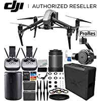 DJI Inspire 2 Quadcopter (Apple ProRes Licenses Included) with Zenmuse X7 Camera, 16mm f/2.8 ASPH ND Lens & Extra Remote Controller Transmitter Bundle