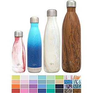 Simple Modern 25oz Wave Water Bottle - Vacuum Insulated Double Wall 18/8 Stainless Steel Hydro Swell Flask - Concept Collection - Sandstone
